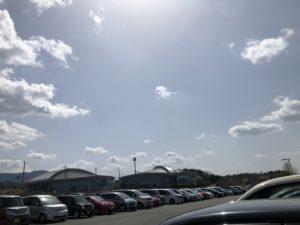 大きな駐車場があります。