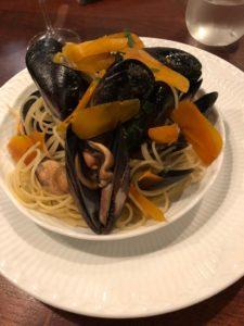 ムール貝とカラスミパスタ