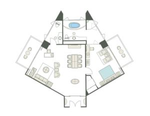 109.0㎡ある広々とした部屋