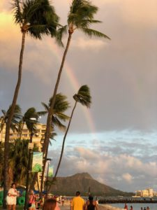 滞在中なんども虹を見ることができました。